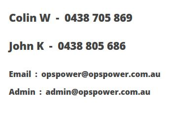 Opspower contact phone numbers and email addresses